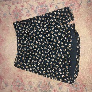 BDG floral mini skirt